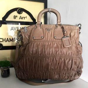 Prada Sfumato Gaufre Nappa Leather Satchel Bag